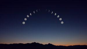 Måne, månefaser, månecyklus, månebog, transformation, selvudvikling, ritual, spiritualitet